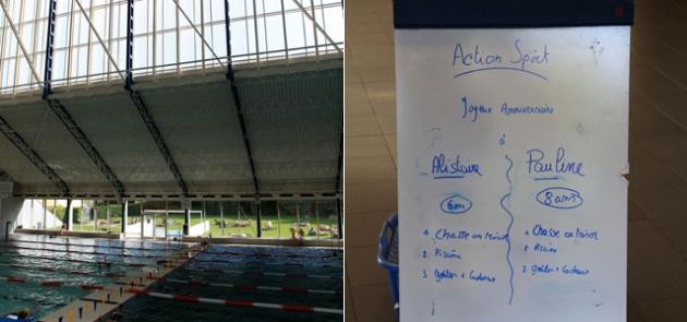 natation, piscine,sport,anniveraire,woluwé