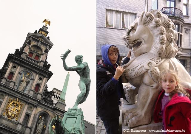 Anvers, musée, port, grue, diamant, architecture, vue, panorama
