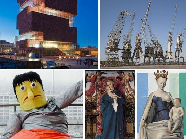 musée, expo, diamants, tableaux, MAS, anvers, vue, panorama, gratuit, mercredi, port, grues, géants, primitfs