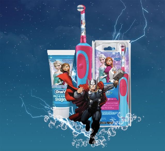 concours, gratuit, jeu, brosse à dents, oralb, disney, avenger, frozen